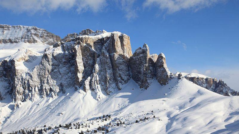 Die Seiser Alm im Skigebiet Gröden